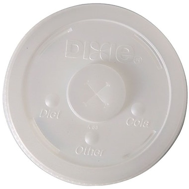 Dixie® Plastic Lid With Straw Slot For 32 oz. Cups, Translucent