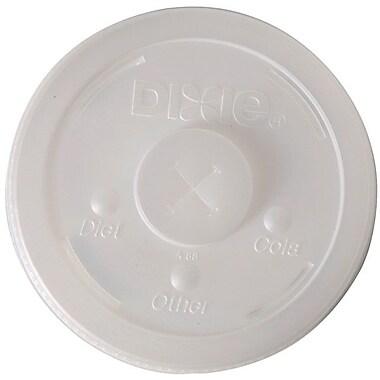 DixieMD – Couvercle en plastique translucide avec fente pour paille, pour gobelets de 32 oz
