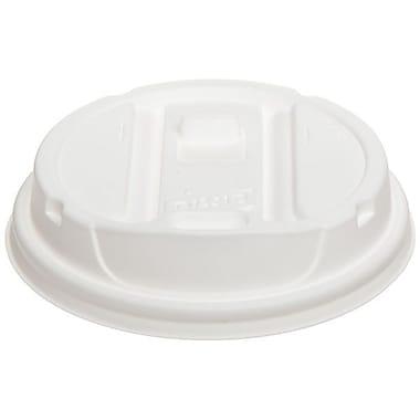 DixieMD – Couvercle refermable Smart TopMD pour gobelets de 12 à 16 oz, blanc