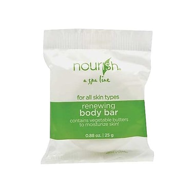 Hunter Amenities Nourish® Renewing Body Bar Soap With Greentea Fragrance, White, 0.88 oz.