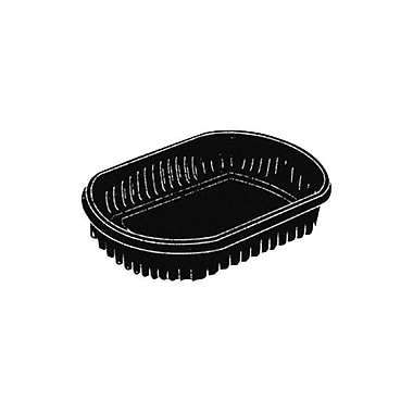 Pactiv Polystyrene Medium Micro Tray, Black