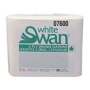 Kruger White Swan® 1/8 Fold Premium Dinner Napkin, White
