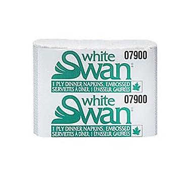 Kruger White SwanMD – Serviettes à dîner de qualité supérieure, pli 1/8, blanc