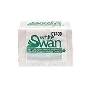 White SwanMD – Serviettes à déjeuner à 1 épaisseur de qualité supérieure, pli 1/4, blanc, 250 serviettes