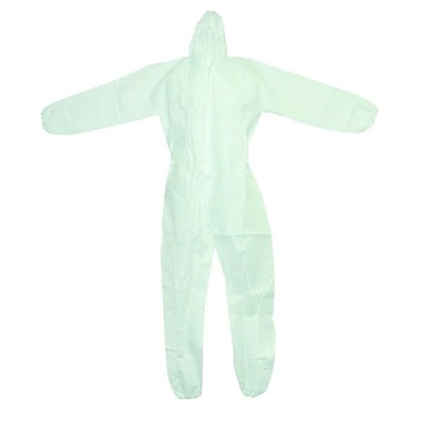 Ronco White Polypropylene Coverall, Large