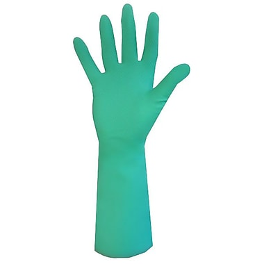Ronco Sol-Fit Unlined Nitrile Reusable Gloves, Green, Medium