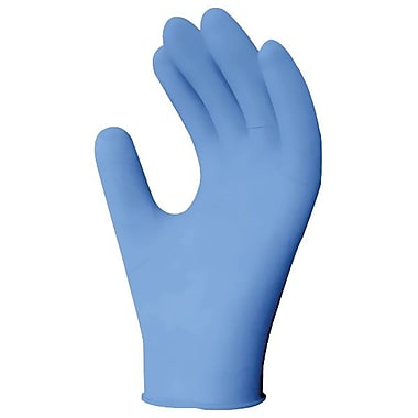 Ronco Blurite Lightly Powdered Nitrile Examination Gloves, Blue, XL