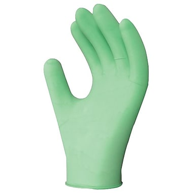 Ronco Aloe Powder-Free Synthetic Disposable Gloves, Green, Medium