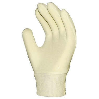 Ronco Cotton Inspection Knitwrist Gloves, Natural, Mens