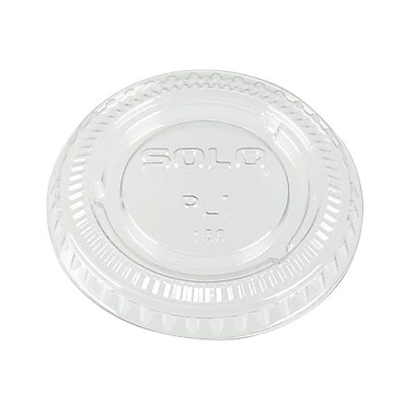 SoloMD – Couvercle rond de plastic Soffle portion unique de 0,2 po, transparent