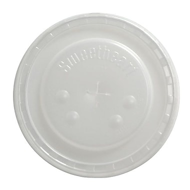 Solo® Polystyrene Cold Drink Flat Lid, Translucent