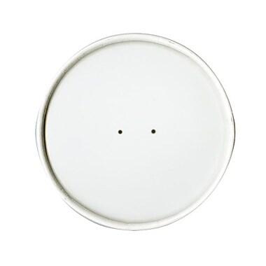 SoloMD – Couvercle pour contenant d'aliments en poly papier double, blanc