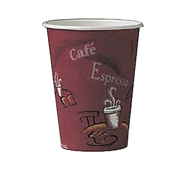 Solo® Single-sided Poly Paper Hot Cup, 8 oz., Bistro