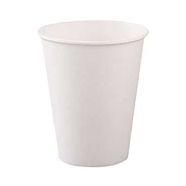 Solo® Single-sided Poly Paper Hot Cup, 8 oz., White