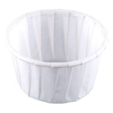 SoloMD – Godets en papier traité, portions de 1,25 oz, blanc