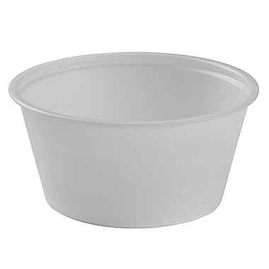 Solo® Polystyrene Plastic Souffle Portion Cup, 3.25 oz., Translucent