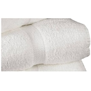 "Standard Textile Cotton Dobby Border Bath Towel, White, 27"" x 54"""