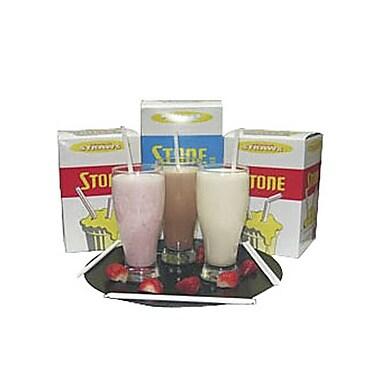 Stone – Pailles pour lait fouetté, 8 po, blanc