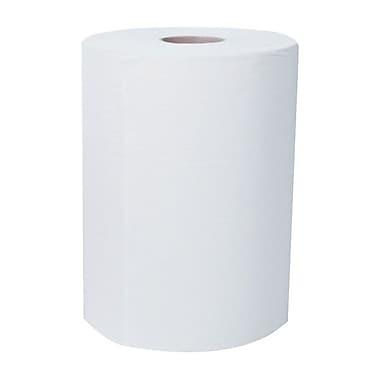ScottMD – Essuie-tout SlimrollMC robustes en rouleau, 8 po x 580 pi, blanc