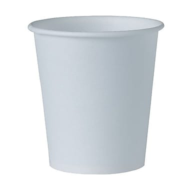 Solo® Eco Forward® Treated Paper Water Cup, 3 oz., White