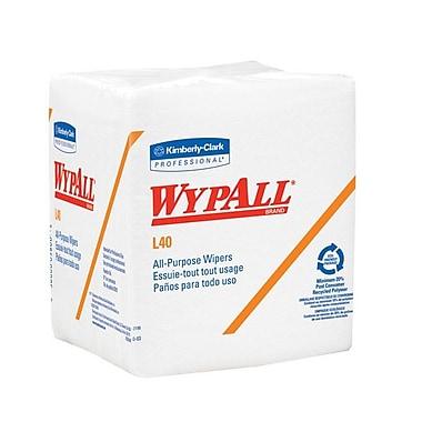 WYPALL – Essuie-tout L40, 12,5 x 13 po, blanc, 1008/boîte