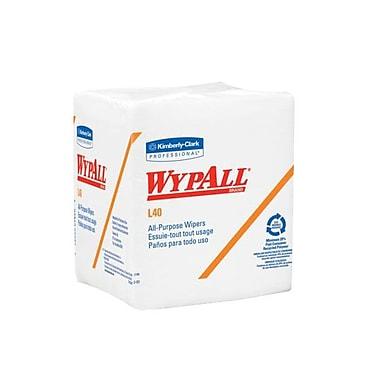 WYPALL – Essuie-tout L40, 12,5 x 13 po, blanc, paq./672
