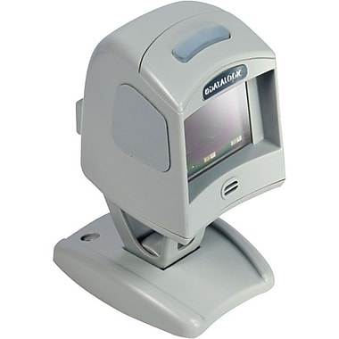 Datalogic™ Magellan 1100i Keyboard Wedge 1D Barcode Scanner with Button/12' Cable, 5mil Omnidirectional, Gray