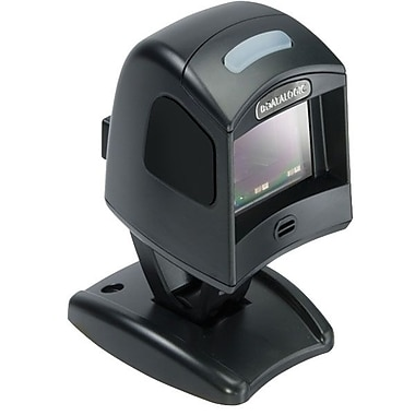 Datalogic™ Magellan 1100i Keyboard Wedge/USB 1D Barcode Scanner with Stand Kit/12' Cable,5 mil, Black