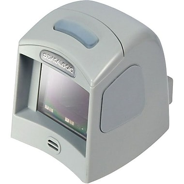 Datalogic™ Magellan 1100i RS-232 1D/2D Barcode Scanner with Button & Stand, 5 mil Omnidirectional, Gray