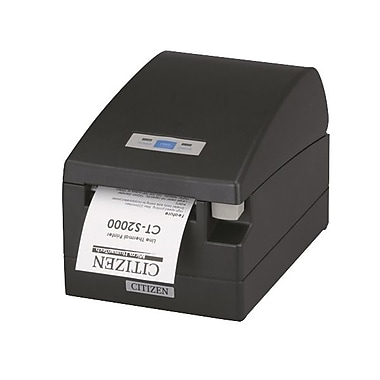 Citizen CT-S2000 8.66 in/s Serial & USB Interface Thermal POS Printer, Black