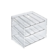 Azar Displays 3-Tiered 12 Compartment Molded Acrylic Cosmetic Counter Display
