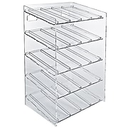 Azar Displays 5-tiered 20 Compartment Pegboard Cosmetic Counter Display