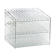 Azar Displays 3-Tiered 36 Compartment Cosmetic Pegboard Counter Display