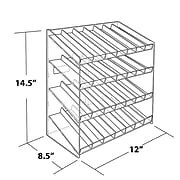 Azar Displays 4-tiered 28 Compartment Pegboard or Slatwall Cosmetic Counter Display
