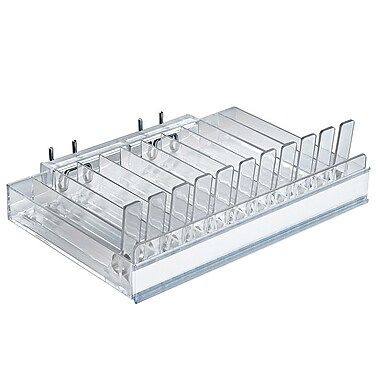 Azar Displays Spring Load & C-Channel Pegboard 11 Compartment Pusher Tray (225511)