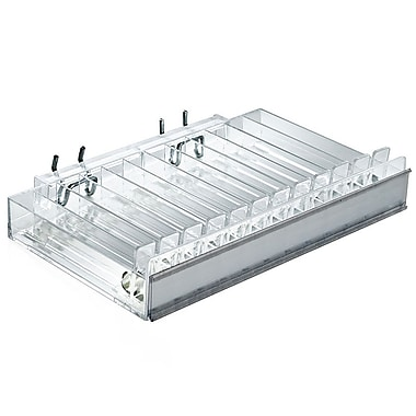 Azar Displays 12 Compartment Pusher Tray Acrylic Cosmetic Counter Display (225512)