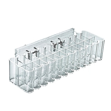 Azar Clear 24 Compartment Tray for Pegboard & Slatwall 2.5 x 10.25-inch