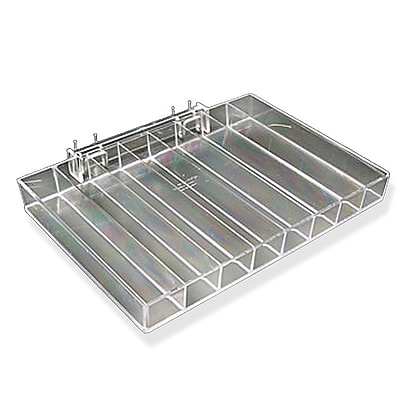 Azar Clear 2/Pack Eight Compartment Nail Polish Tray 1.25 x 12.25-inch