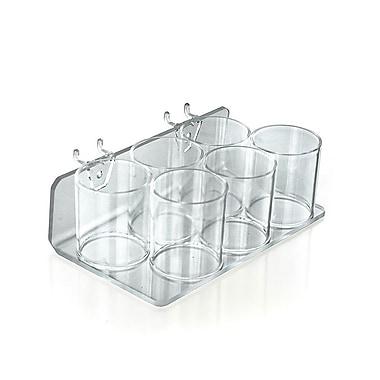 Azar Displays – Plateau en plastique pour panneau perforé/en lattes de 6 coupes (225580)