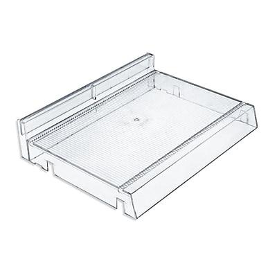 Azar Displays Modular Adjustable Plastic Cosmetic Tray, 2/Pk