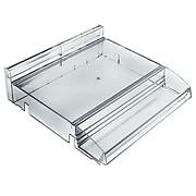 Azar Displays Modular Adjustable Plastic Cosmetic Tray with Tester Tray, 2/Pk