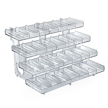 Azar Displays 4-Tier 28-compartment Acrylic Modular Tray (225994)