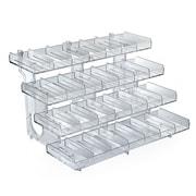 Azar Displays – Plateau modulaire à 4 niveaux et 28 compartiments en acrylique (225994)