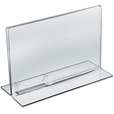 Azar Displays Horizontal Double Sided Stand Up Sign Holder, 10/Pack (252042)