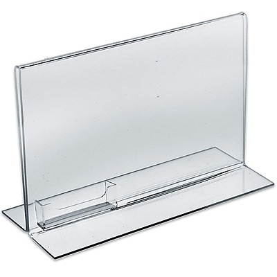 Azar Displays Horizontal Double Sided Stand Up Sign Holder