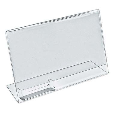 Azar Displays – Porte-affiche horizontal incliné en L, 10/pqt (252044)