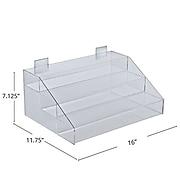 Azar Displays Three-Tier Acrylic Counter Step Display
