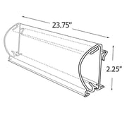 "Azar Displays 23.75""W x 2.25""H Bullnose Flip Up C-Channel, Clear (600038)"