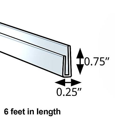 Azar Displays – Barre en J en plastique, 0,25 x 0,75 po, 5/paquet (600046)