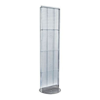Azar Displays Pegboard Freestanding Floor Display, 16